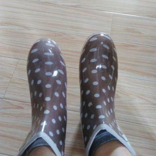 女款雨鞋短筒女马丁雨靴防滑水鞋女生雨靴水靴套鞋胶鞋女中筒春夏 小草花-标准码 35 晒单图