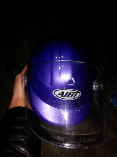 强尼电动摩托车头盔冬季男士电动车半覆式安全帽女士四季保暖多色半盔防雾护脖头盔 ZDK-376海蓝 晒单图