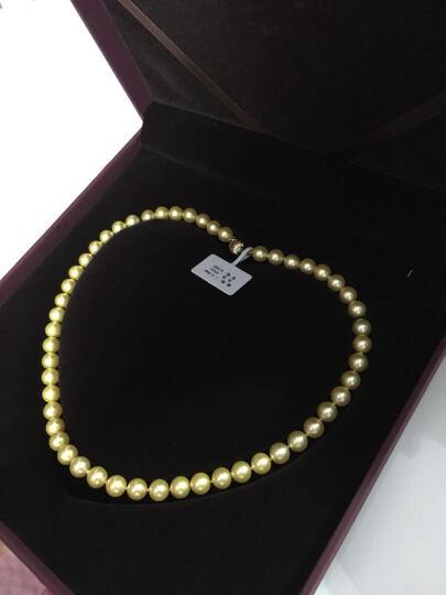珍珠美人 金色海水珍珠项链 日本Akoya珍珠 正圆强光 送妈妈礼物【金色年华】 7.5-8mm43cm 晒单图