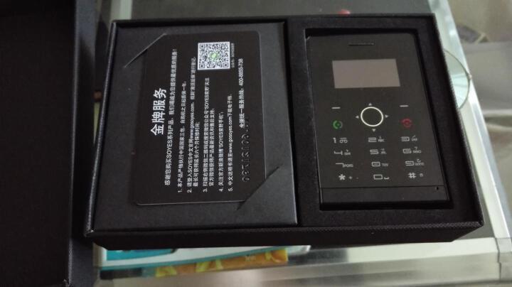 啦唔酷轻薄手机 SOYES 迷你卡片手机 袖珍小手机 儿童学生礼物 黑色标配 晒单图
