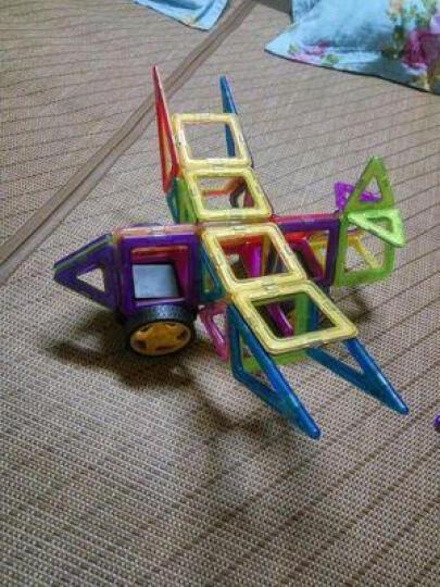 磁力片积木玩具儿童益智玩具百变提拉磁性立体积木拼插套装宝宝玩具女孩男孩儿童节礼物 327件套装+收纳箱+教材 晒单图