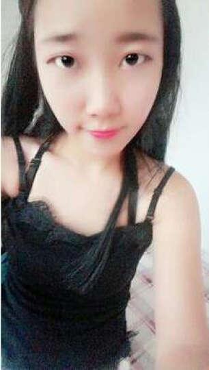普雷芳 夏季韩版新款性感时尚百搭紧身蕾丝女士小吊带露肩背心打底衫 黑色 均码 晒单图