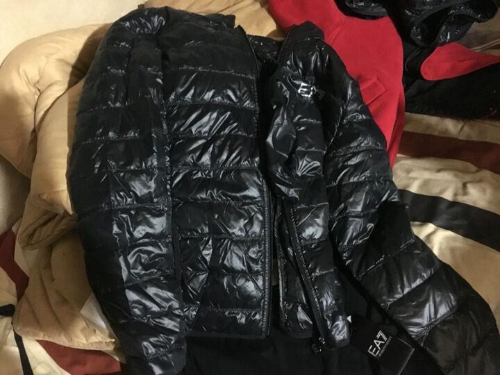 阿玛尼(ARMANI EA7)男装 轻薄羽绒服马甲背心 8NPQ01PN29Z 黑色 M 晒单图