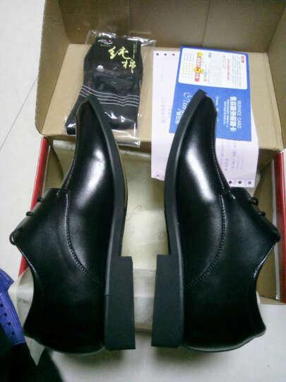 娜思图 增高鞋男鞋男士商务休闲隐形内增高6CM男鞋皮鞋 棕色增高2206 43 晒单图