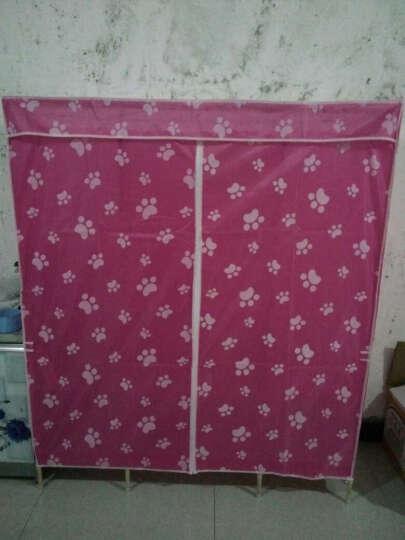 简易衣柜 牛津布衣柜实木加固组合折叠衣柜