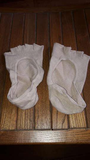 jSC隐形五指袜子女款棉浅口半掌隐形袜女士夏季高跟鞋袜子 肤色-露指半掌隐形袜 晒单图