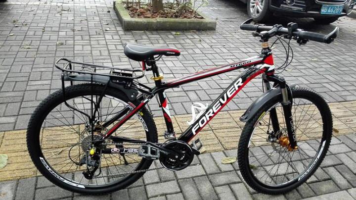 永久(FOREVER) 永久自行车27/30速26寸铝合金朝阳轮胎/变速一体轮山地车660 30速版标准版-白蓝色 晒单图