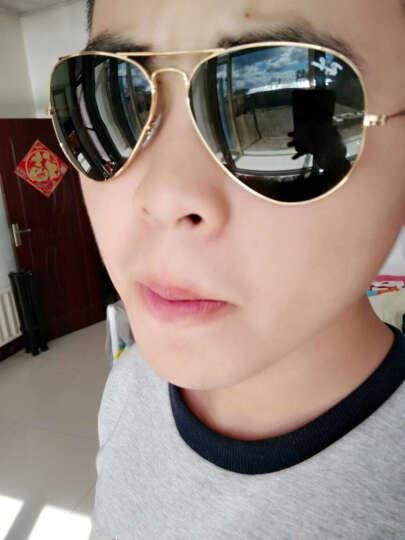 Ray-Ban 雷朋墨镜男女款飞行员系列金色镜框绿色镜片眼镜太阳镜 RB3025 L0205 58mm 晒单图