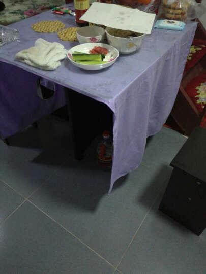 珍叶家私 新品小户型折叠餐桌餐椅套装一桌四凳可伸缩折叠简易餐桌椅组合SN5939 配四椅柚木色120*75桌面 长120 晒单图