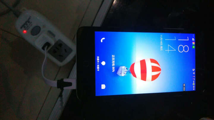 卡姆昂 Micro面条充电数据线 适用三星S6小米3华为酷派中兴HTC联想OPPO安卓手机 白色 圆线 2米加长(安卓通用) 晒单图