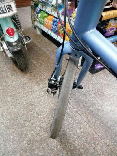 T7山地车自行车21速20寸禧玛诺变速通勤单车学生成人男女士儿童学生时尚轻便复古小轮自行车 宝石蓝 晒单图