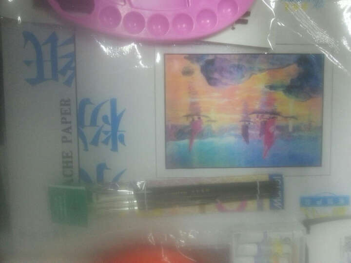 24色水粉颜料套装水粉画纸画笔调色盘盒工具套装 12色套装 5ml 支