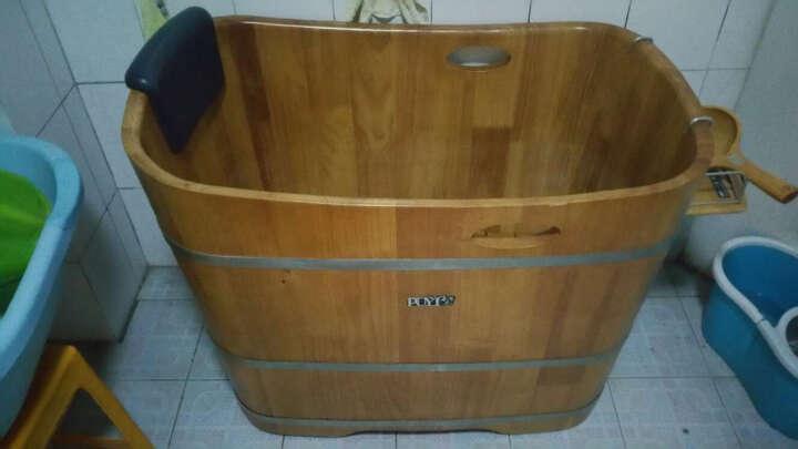 朴易(PUYI) 木桶优质橡木桶/黄金眼木质浴缸/93CM长/小规格沐浴桶家庭用洗澡木盆 晒单图