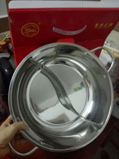 野虎(YE-HU) 鸳鸯锅火锅锅具不锈钢火锅盆电磁炉专用火锅锅 鸳鸯火锅34cm 晒单图