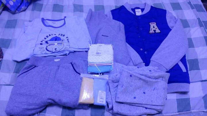 巴拉巴拉童装男童棉衣棒球服中大童棉服冬新款加厚儿童棉袄外套男 紫蓝色 120 晒单图