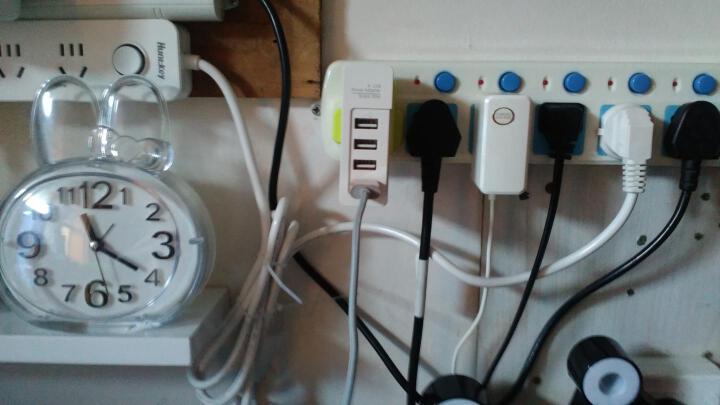 ON 4口(5V4A)USB插座 多用电源适配器/充电器 便携式通用型充电插头 送英标头 绿色 HOU1440G 晒单图
