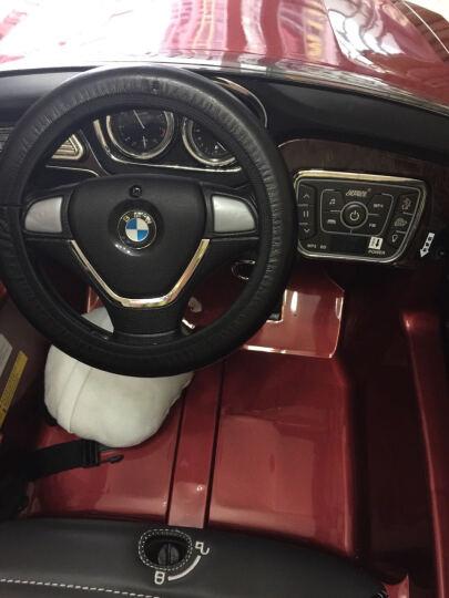 巨龍(JULONG) 授权宝马X6童车遥控电动童车四轮双驱电动汽车 大黑色烤漆三档变速+皮座+MP4显示屏 双驱双电实心橡胶轮胎 晒单图