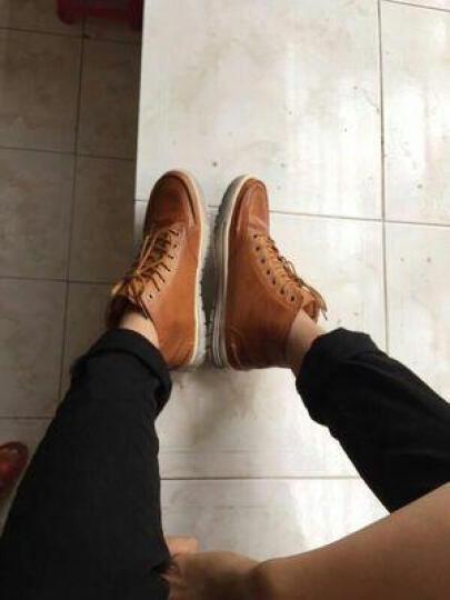 班尼咔咔 马丁靴男靴子男士短靴冬季保暖棉鞋高帮男雪地靴 205黄色【不加绒} 44标准码 晒单图