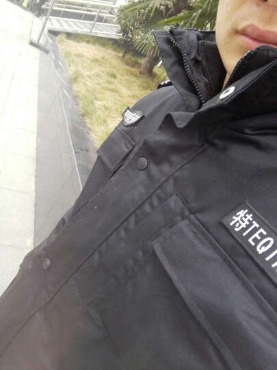 朗奥(LONALL) 黑色作训服大衣作战服保安服特保棉服棉大衣保安服冬季长袖正品厂家直销 黑色 L 晒单图