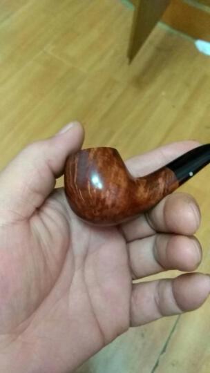 合旺 烟具烟斗石楠木手工 黑紫檀木弯式 晒单图