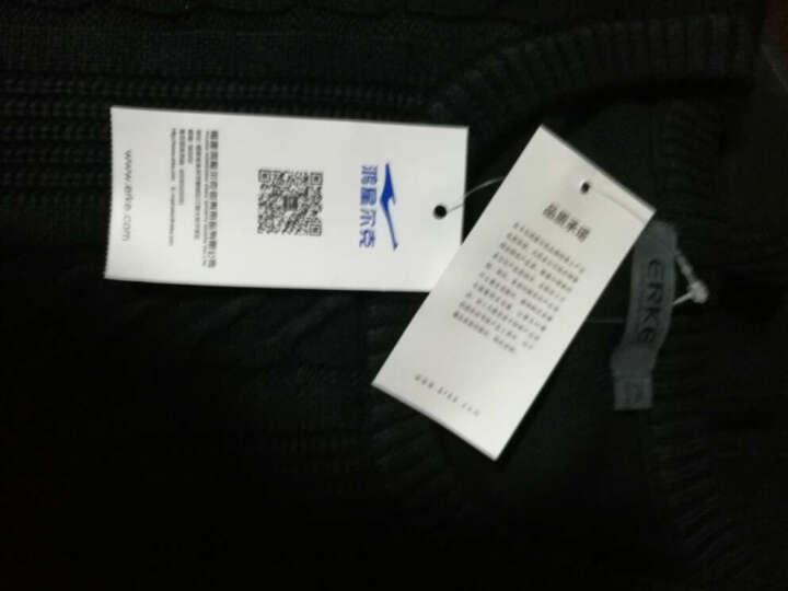 鸿星尔克(ERKE)男装圆领针织线衣男士时尚休闲长袖上衣 亮紫蓝花灰 2XL 晒单图