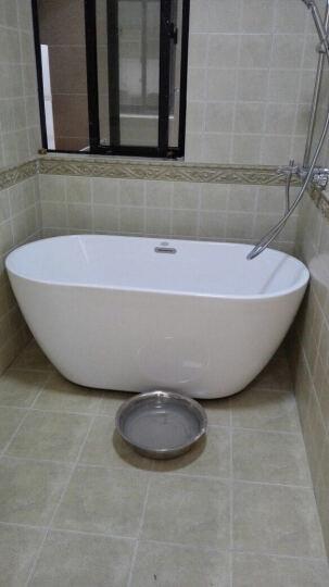 沃特玛超薄新款独立式浴缸亚克力浴缸成人浴盆欧式