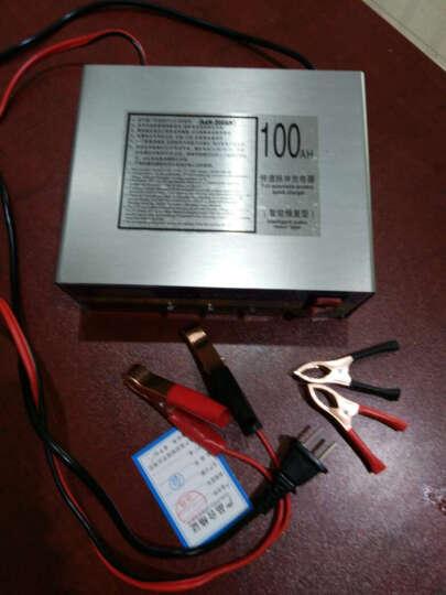 自动汽车电瓶充电器12V24V伏摩托轿车蓄电池智能脉冲 充电机 晒单图