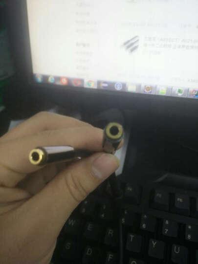 艾菲克(AIFFECT)AE21-BR02 3.5mm音频线一分二公转母 立体声音频转换线 情侣耳机分线器延长线 合金款 黑色 晒单图