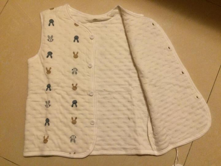 南极人婴儿空气棉马甲儿童夹棉背心宝宝春秋款保暖衣服外出款 提花小熊-浅粉 110CM 晒单图