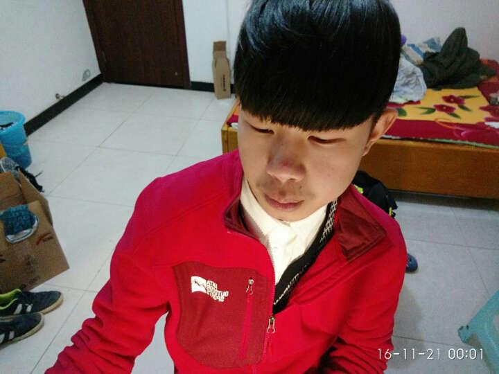 安踏男装  休闲抓绒上衣 远红外保暖科技立领开衫 95546711 朱砂红-2 L/175 晒单图