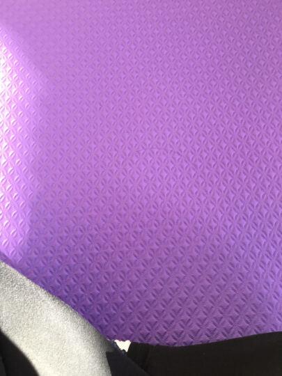 奥义瑜伽 彩虹瑜伽垫 初学者加厚防滑8mm健身垫 附带背包 玫红色 晒单图