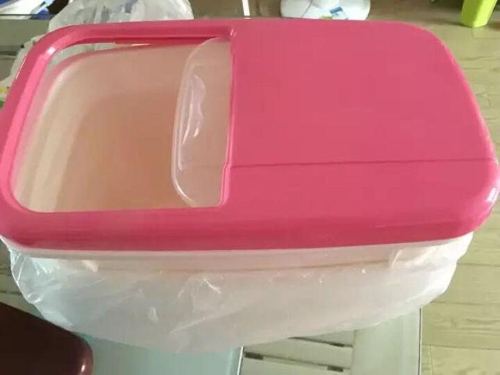 喜家家 塑料米箱 10公斤米桶收纳箱推盖式 防虫防潮面粉密封罐 咖啡色 晒单图