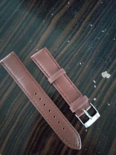 IIKTWOK手表皮带配件 男女士手表皮革表带 通用针扣手表表带 1020G--黑色-20MM 晒单图