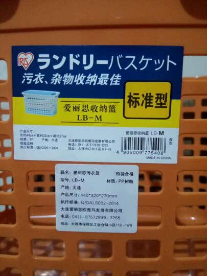 日本爱丽思爱丽丝塑料大号手提洗浴用品收纳洗澡筐装放赃衣服的脏衣篮子浴室收洗衣篓污衣箱袋换洗衣服收纳框 天蓝色一个 晒单图