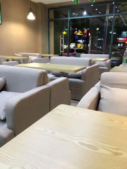 轩木阁西餐厅桌椅 甜品店桌椅 奶茶店桌椅 披萨店桌椅汉堡店桌椅 牛排店桌椅 定制沙发卡座 两条沙发一个桌子整套 晒单图