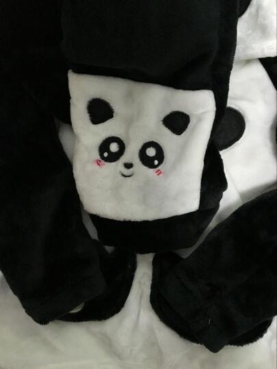 亲子睡衣冬季法兰绒男女情侣睡衣男童女童睡衣儿童家居服套装 圆领小熊 男士XL(建议173-178cm135-155斤) 晒单图