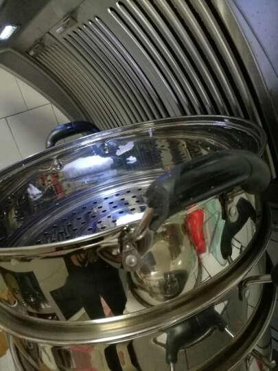 嘉能26-38cm不锈钢蒸锅二层三层四层复底蒸笼煤气电磁炉通用 38cm(四层) 晒单图