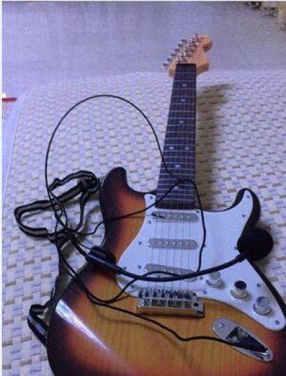 儿童玩具吉他  初学者尤克里里宝宝益智玩具  小孩过家家仿真木质小乐器可弹奏 红色吉他 晒单图