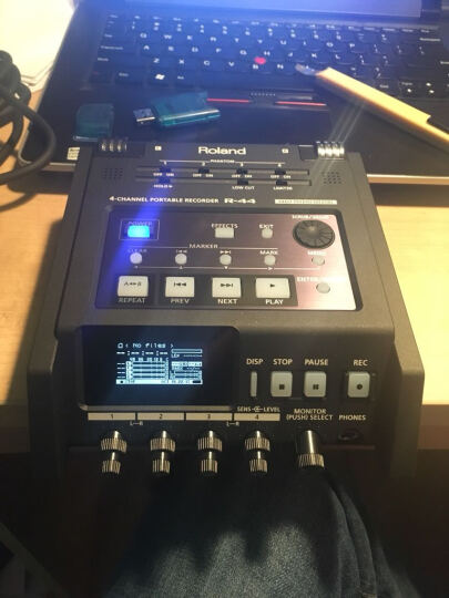Roland 罗兰R44  逻兰 R44录音机 4路 调音台 索尼佳能 森海416 罗德 R44(送包+R07便携录音机) 晒单图
