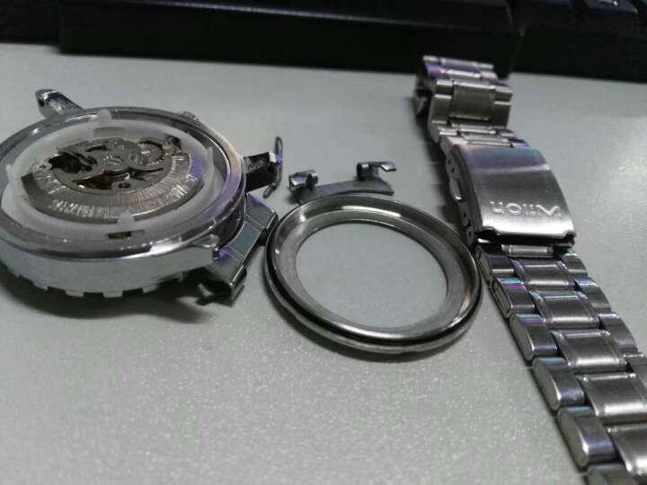 威龙(wilon)手表男士钢带全自动机械表镂空背透皮带男士手表运动时尚商务男表892 皮带-蓝玻璃黑面 晒单图