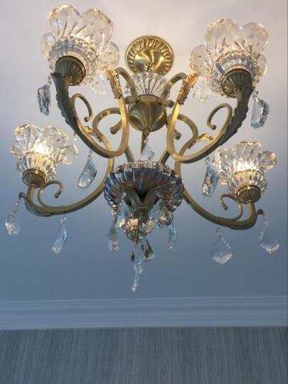 法雕全铜欧式吊灯水晶灯客厅灯卧室灯铜灯美式餐厅灯
