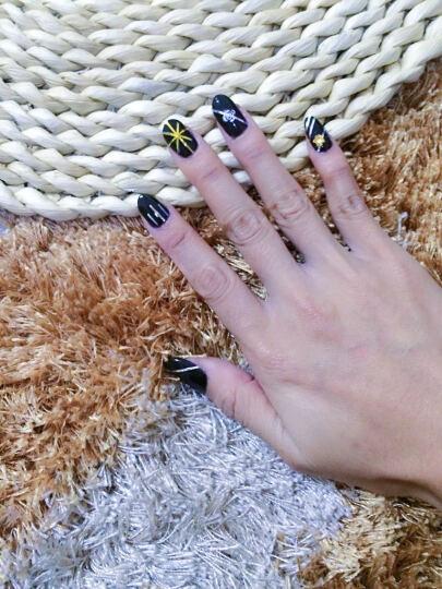 美甲美甲合金属饰品指甲配件立体组合装饰日系水钻石椭圆宝石大蝴蝶结 M15 晒单图