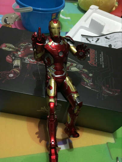 英雄模型复仇者联盟模型摆件手丶办 美国队长3钢铁侠模型合金金属版钢铁侠模型节日礼物 美国队长手办 23CM 晒单图