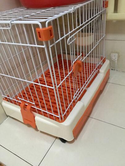 捣蛋鬼 狗笼子 带抽屉 滑轮 狗厕所 双层 可拆卸 橘色 晒单图