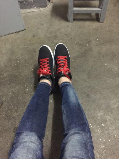 特步板鞋男鞋2018夏季新款男鞋休闲鞋低帮时尚学生滑板鞋 9566黑 41 晒单图