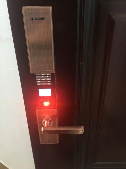 松下/Panasonic电子指纹锁 智能密码锁 家用防盗门锁 门禁锁芯V-N630C/L 古铜色 右开门 无天地钩 晒单图