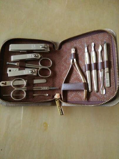 777指甲刀剪钳套装灰指甲钳修脚刀美容套装组合12件套美容美甲套装 TS-520KL-金色12件 晒单图
