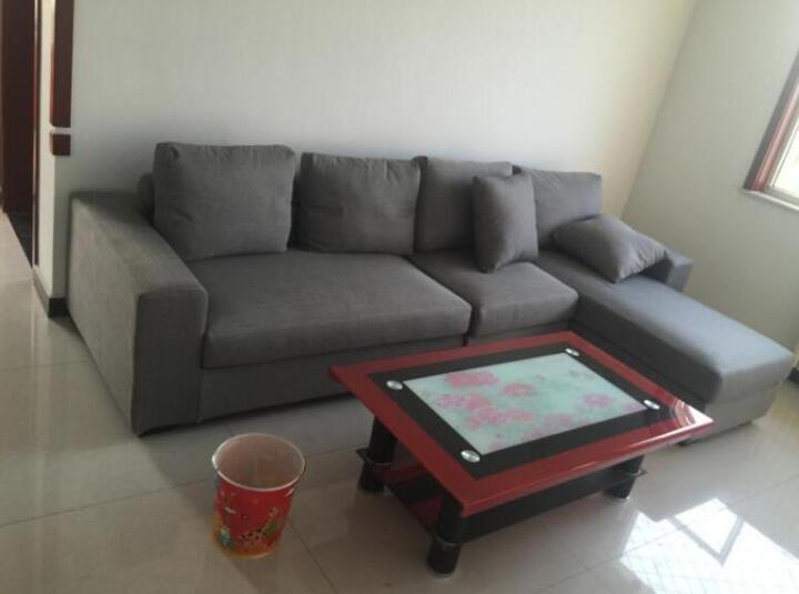 素色房间 沙发 北欧日式现代简约布艺沙发乳胶沙发转角沙发布艺可拆洗懒人沙发大小户型组合沙发 豪华版-米黄色 三人位+贵妃位-送2个托盘 晒单图