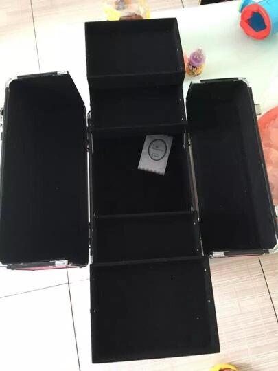 博瑞(BORY)化妆箱 手提化妆箱  大容量跟妆美甲工具箱  纹绣美发美容半永久工具箱 白色 晒单图