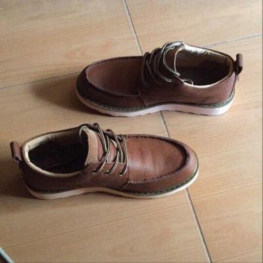 走索(Z.Suo)男鞋休闲鞋复古韩版男靴子英伦马丁靴户外 麦黄色 39标准皮鞋码 晒单图
